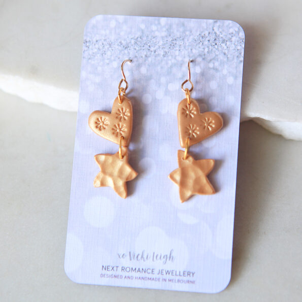 star eyed love bug unique handmade dangley earrings next romance jewellery australia