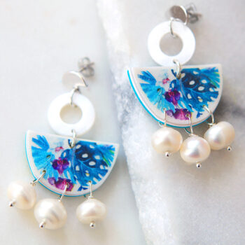 unique tropical art pearl one of a kind design earrings next romance jewellery.jpeg