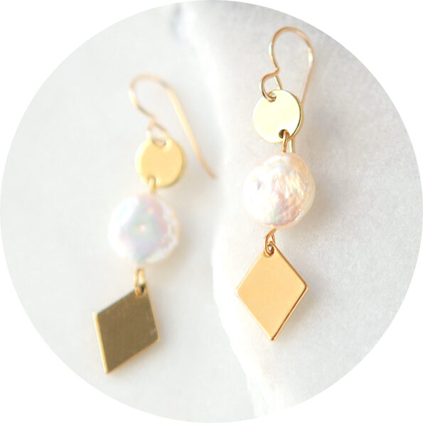 coin pearl gold triple diamond earrings next romance jewellery crop