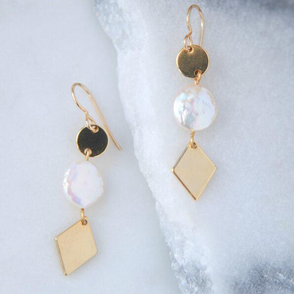 pearl coin new earrings next romance jewellery australia
