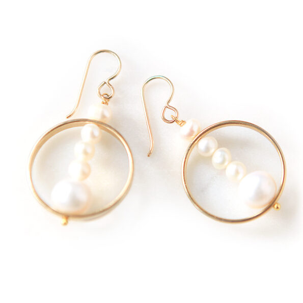 pearl hoops one off etched unique one of a kind earrings next romance jewellery australia